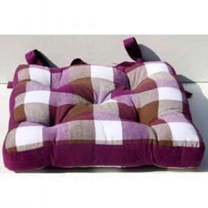 cuscino da cucina quadretti viola