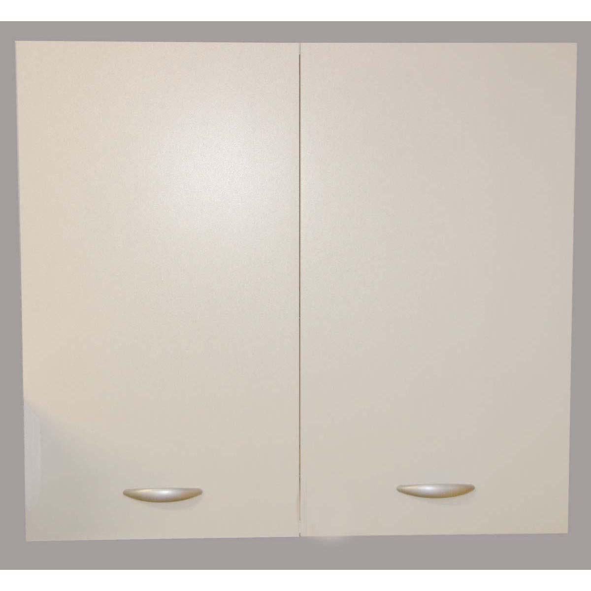 Pensile due ante per cucina componibile Easy color bianco e color noce