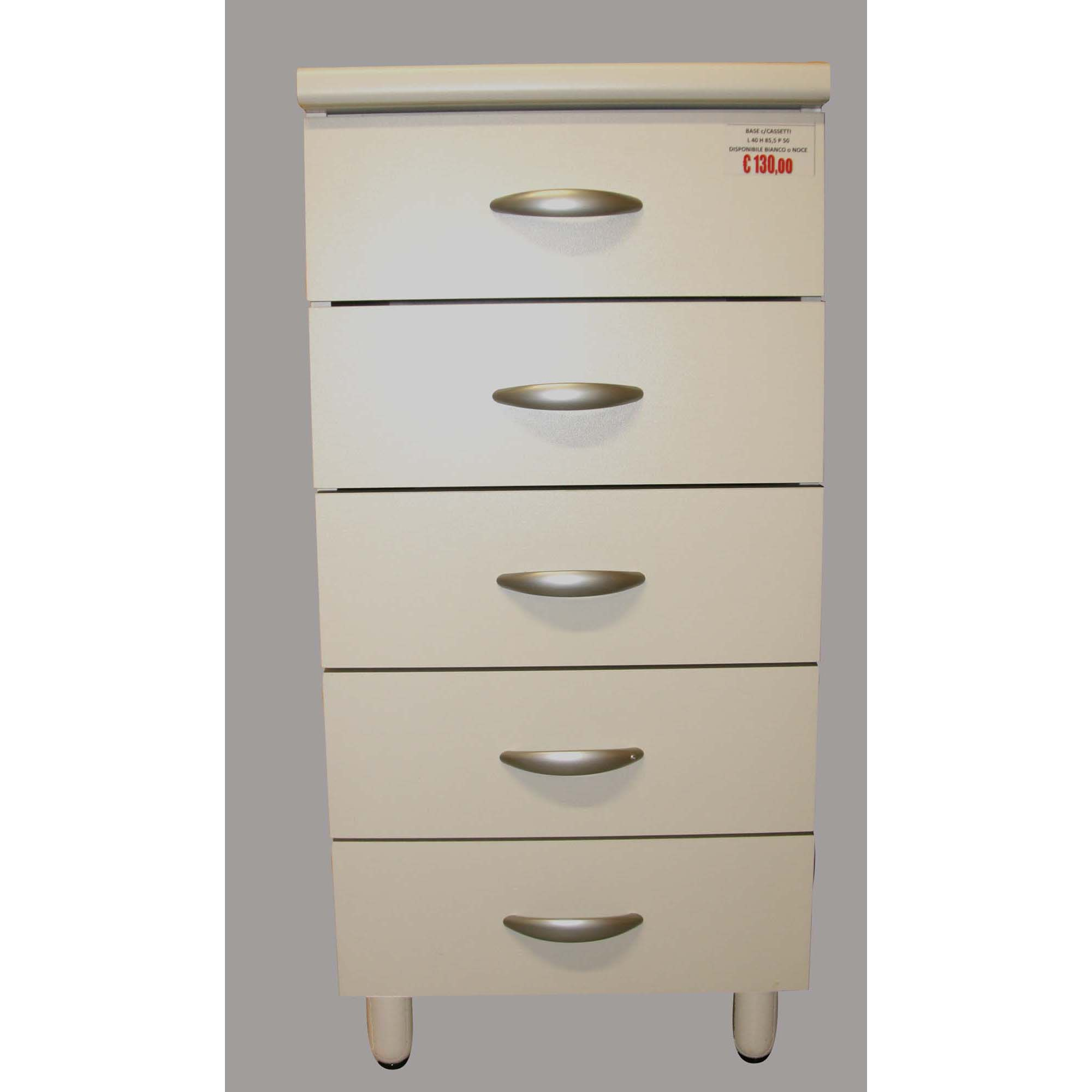 Base con cassetti per cucina componibile Easy color noce o bianco