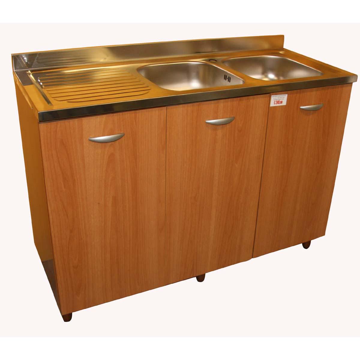 Base sottolavello a due vasche con gocciolatoio per cucina ...