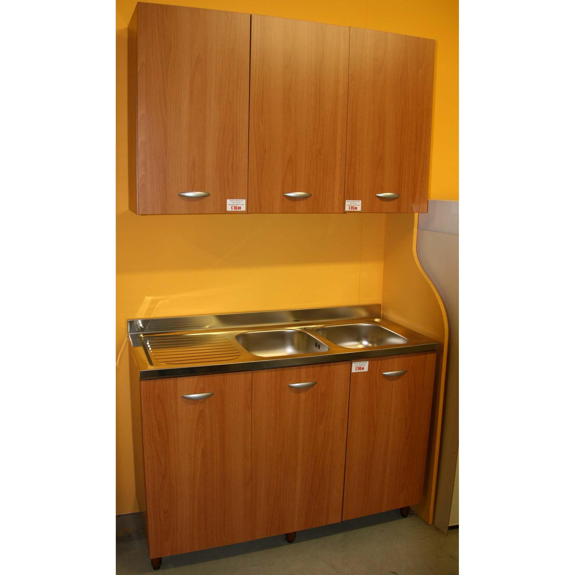 base di un'anta per cucina componibile easy color noce o bianco - Base Cucina Componibile