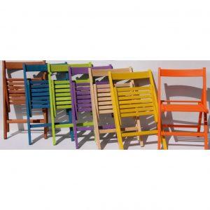 Sedie pieghevoli colorate cuneo