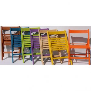 Sedie pieghevoli legno,vari colori 9 € cad. - Valvaraita Stock e ...