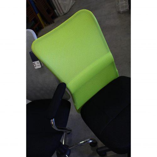 Sedia Ufficio Colori Verde, Arancione e Nero-1059
