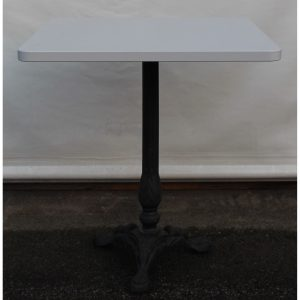 tavolino laminato e gamba ghisa