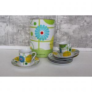 Set tazzine caffè fiori-0