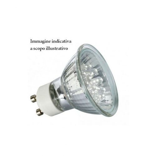 Lampadina a LED extra power faretto GU10 5W 38° luce calda TUTTO VETRO con lente-0