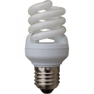 Lampadina basso consumo a spirale risparmio energetico 11Watt E27 luce calda-0