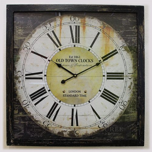 Orologio da parete legno antico 60 x 60