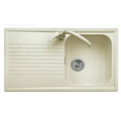 Plados una vasca a destra ultraquartz bianco 86 x 50 - PL0861