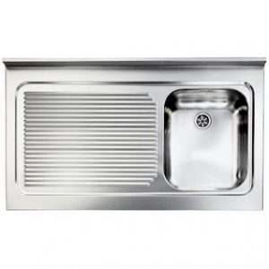 Lavello acciaio inox 90 x 60 vasca destra modello Rossana
