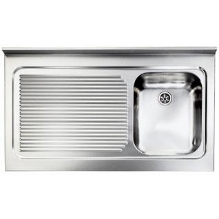 Lavello in acciaio Inox da appoggio 90 x 60 una vasca destra ...
