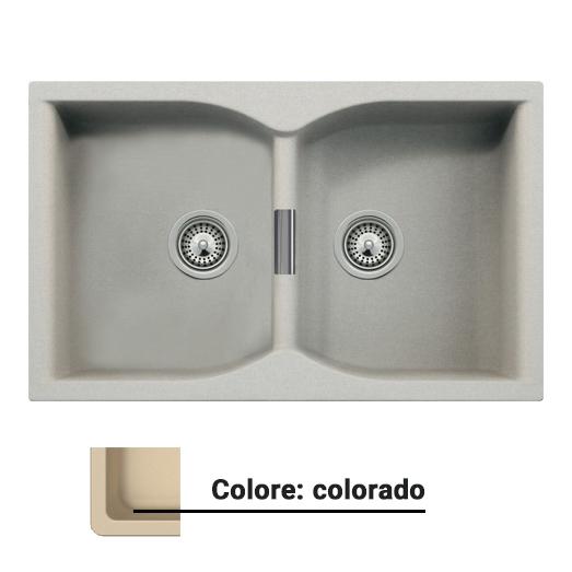Lavello blauvelle interform n 200 2 vasche 84 x 48 - Mobili valvaraita ...