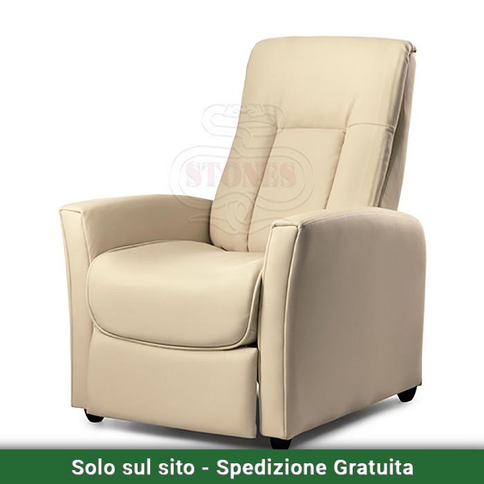 Poltrona reclinabile manuale alessandra valvaraita stock - Mobili valvaraita ...