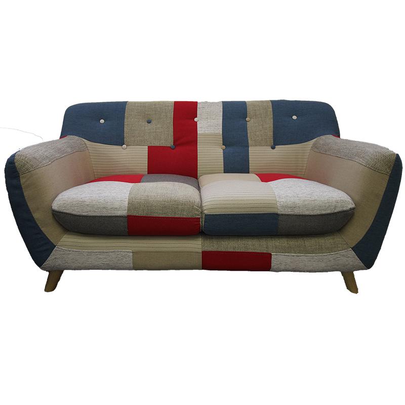 Divano 2 posti patchwork valvaraita stock e arredamenti - Dimensioni divano 2 posti ...