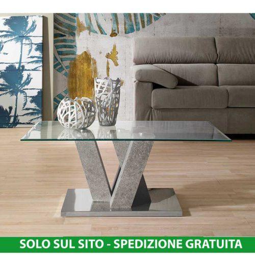 Pietra Agata Bianco 50x75x27 cm Stones Sasso Small Tavolino da Salotto